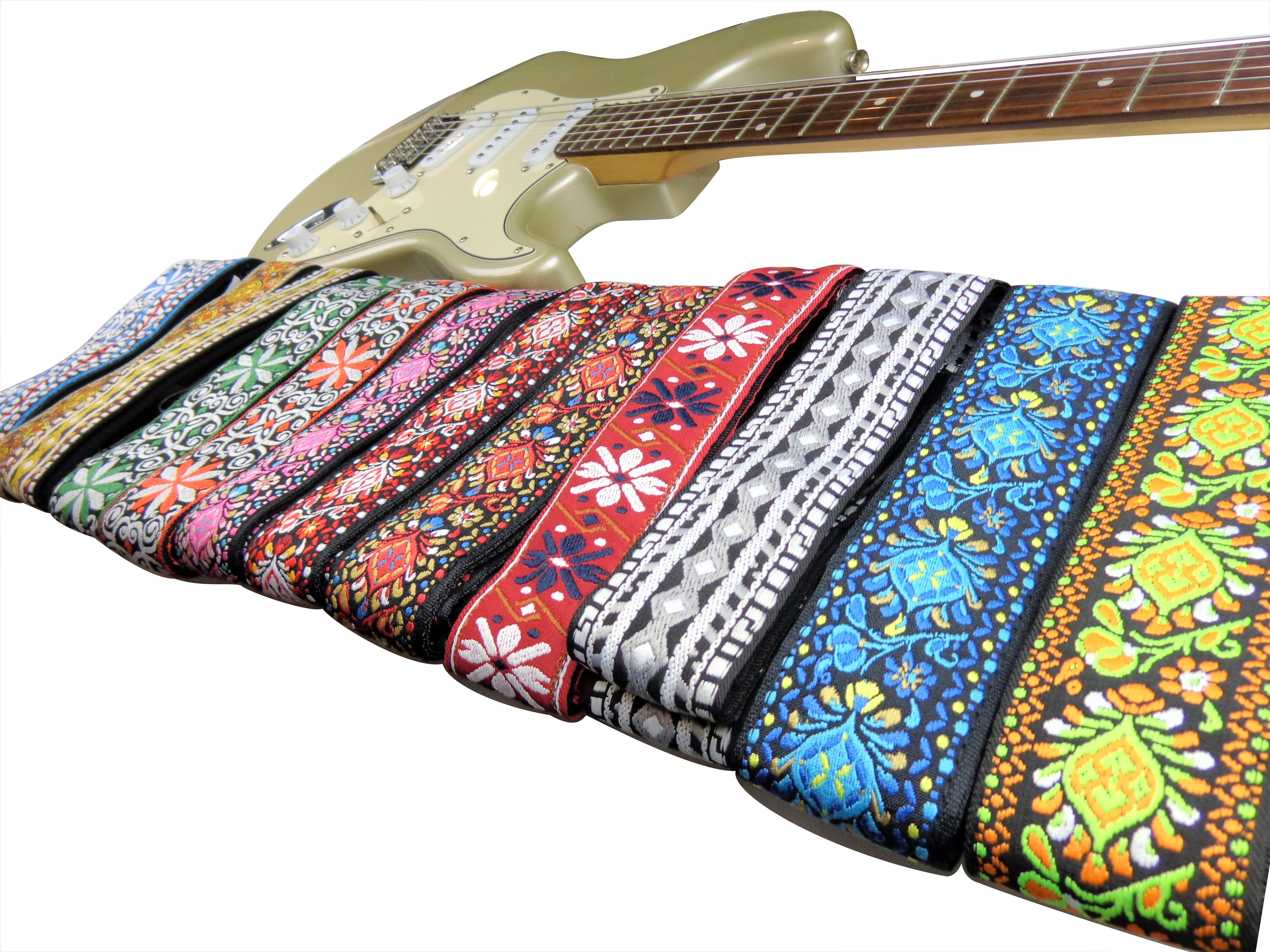 New-Retro-Vintage-Jacquard-Woven-Acoustic-Electric-Guitar-Strap thumbnail 15