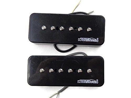Wilkinson-Bridge-and-Neck-P90-Soapbar-Pickup-SET-Soap-Bar-Cream-or-Black-Screws thumbnail 11