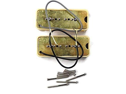 Wilkinson-Bridge-and-Neck-P90-Soapbar-Pickup-SET-Soap-Bar-Cream-or-Black-Screws thumbnail 15