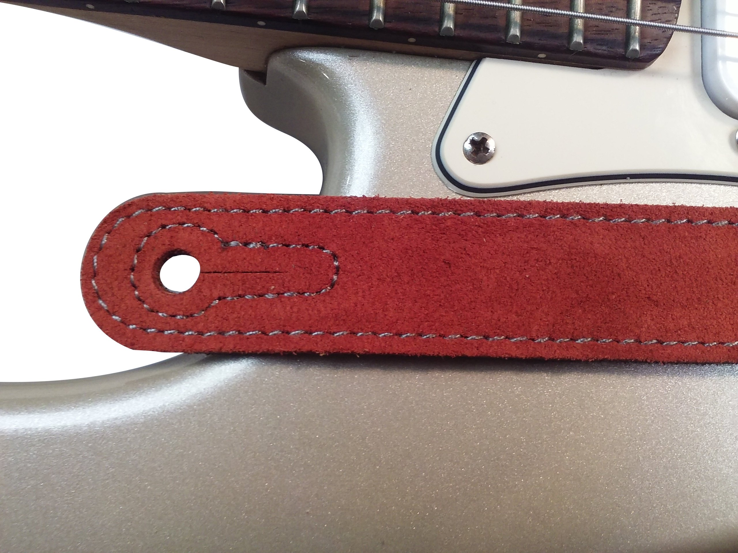 Quality-Leather-2-5-and-3-034-Wide-Acoustic-Electric-Guitar-Bass-Strap-Thick-Padded miniature 28
