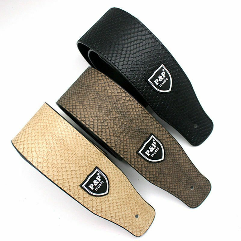 Guitar-Strap-Leather-PU-Plastic-Adjustable-Acoustic-Electric-Bass-Skin-Sparkle thumbnail 36