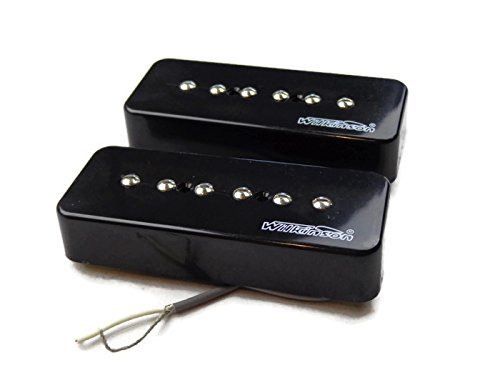 Wilkinson-Bridge-and-Neck-P90-Soapbar-Pickup-SET-Soap-Bar-Cream-or-Black-Screws thumbnail 6