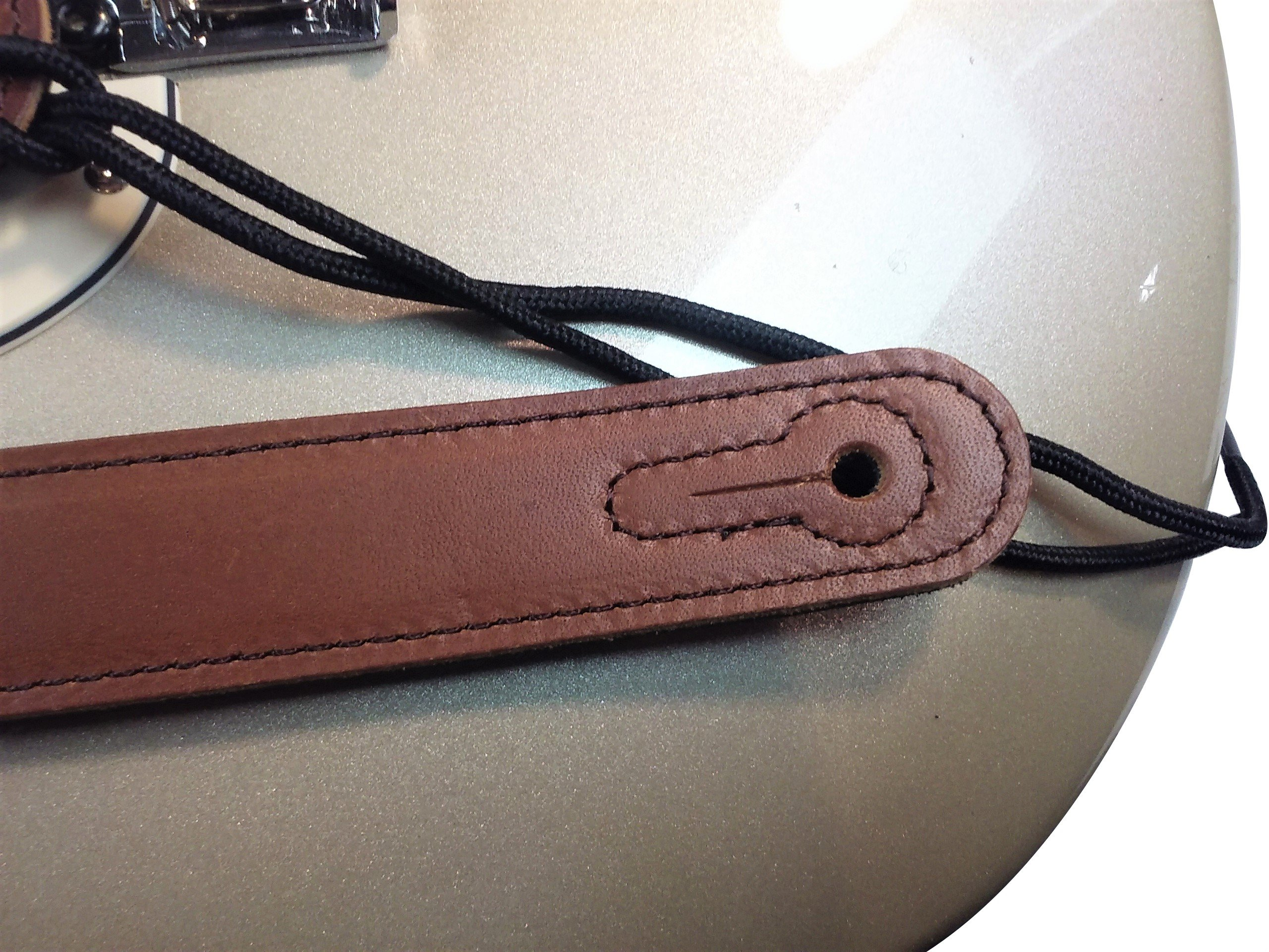 Quality-Leather-2-5-and-3-034-Wide-Acoustic-Electric-Guitar-Bass-Strap-Thick-Padded miniature 23