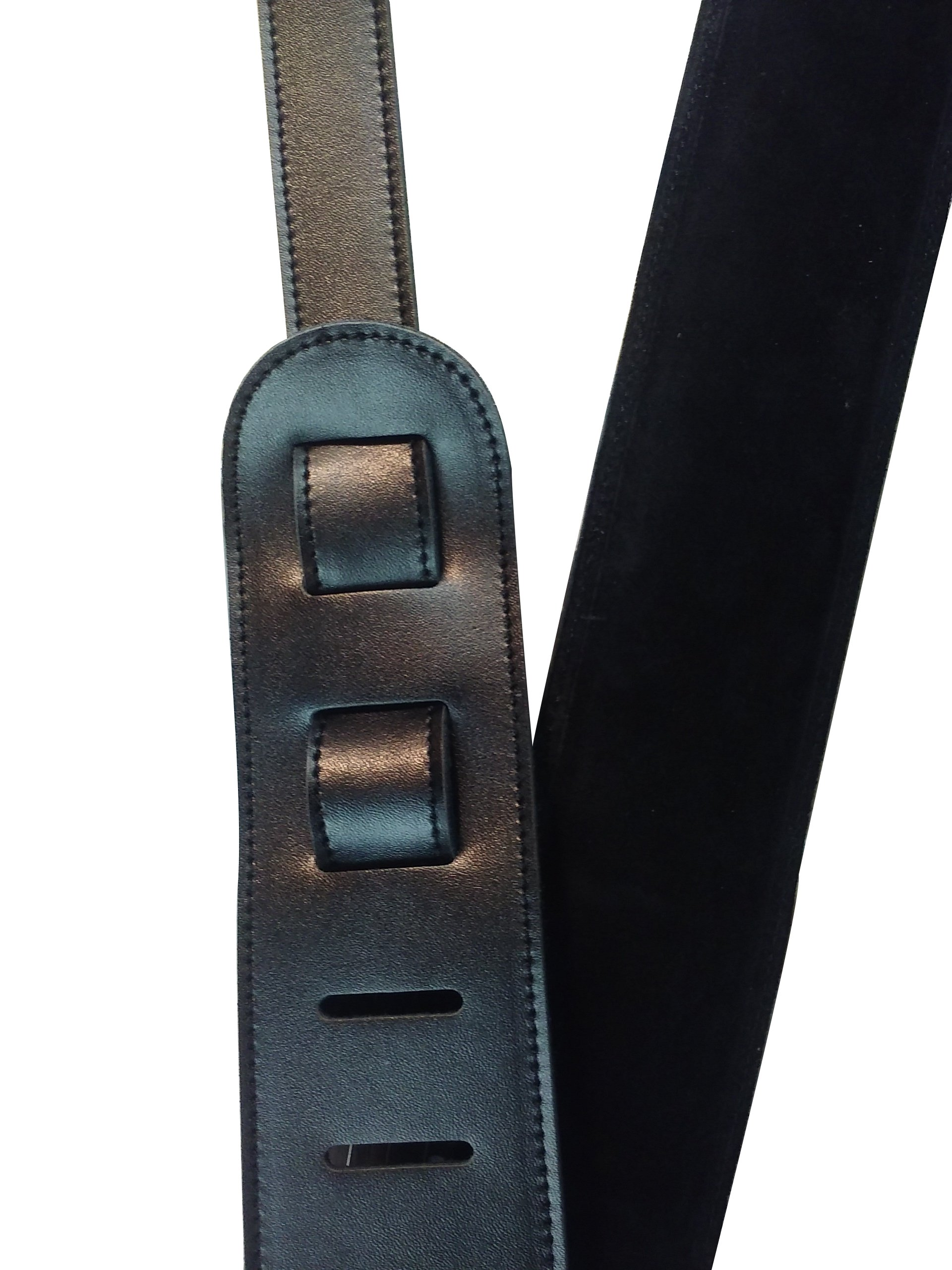 Quality-Leather-2-5-and-3-034-Wide-Acoustic-Electric-Guitar-Bass-Strap-Thick-Padded miniature 7