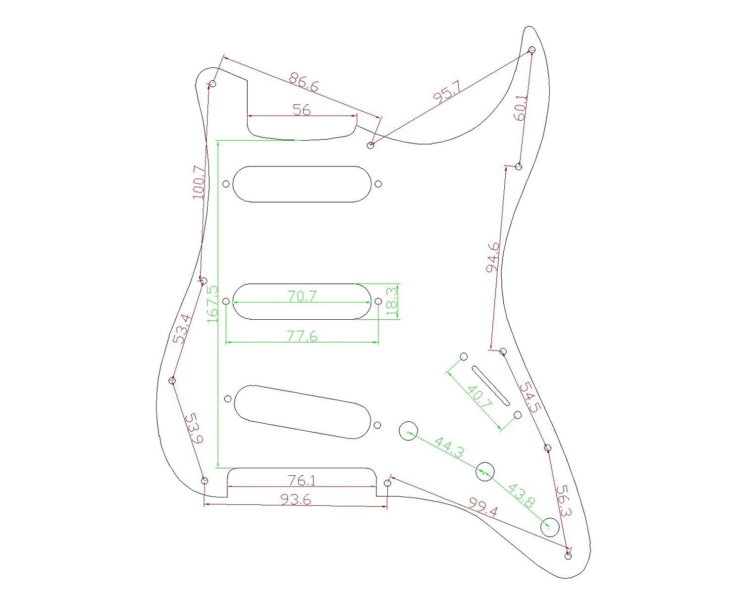 Stratocaster-Pickguard-For-Fender-US-Mexico-Strat-Electric-Guitar thumbnail 33