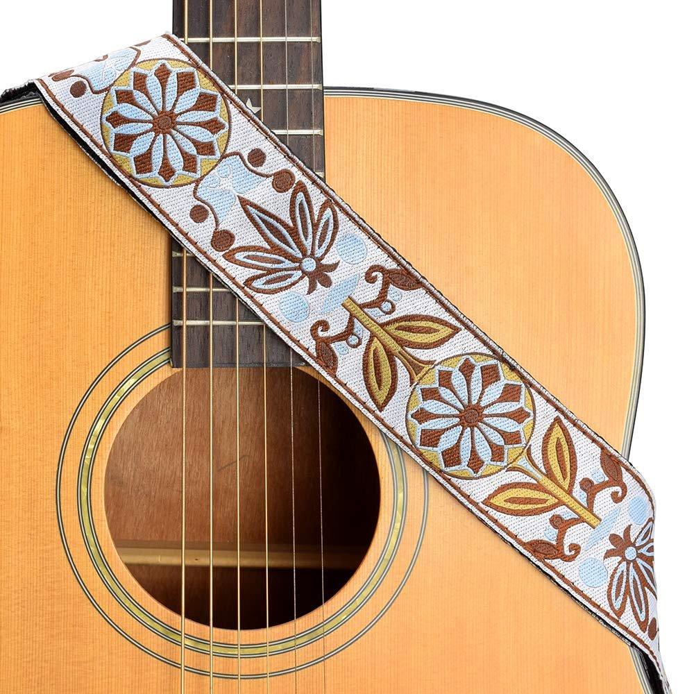 New-Retro-Vintage-Jacquard-Woven-Acoustic-Electric-Guitar-Strap thumbnail 21