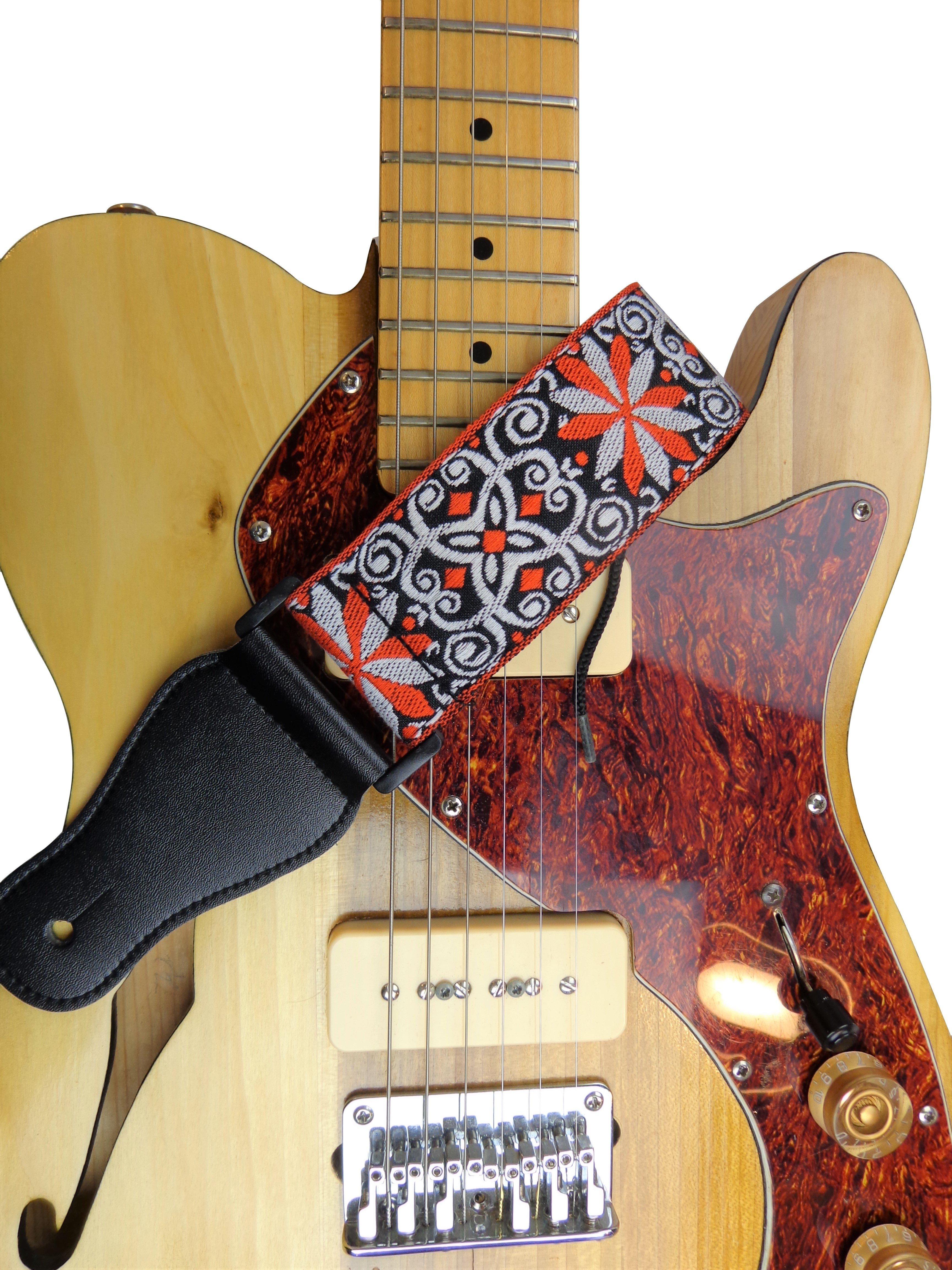 New-Retro-Vintage-Jacquard-Woven-Acoustic-Electric-Guitar-Strap thumbnail 46