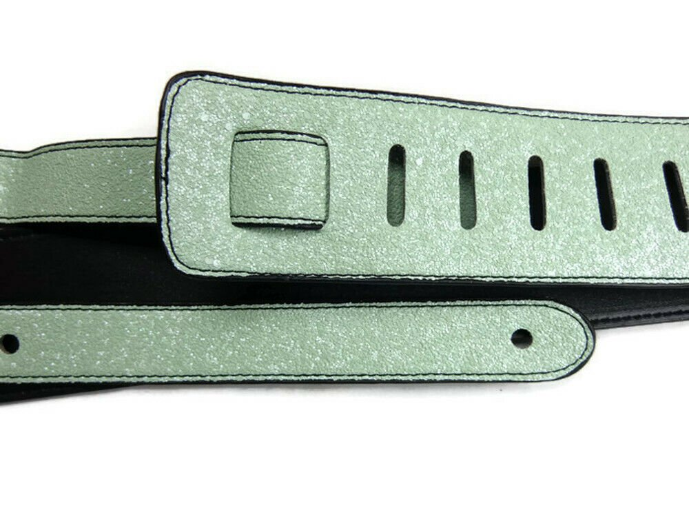 Guitar-Strap-Leather-PU-Plastic-Adjustable-Acoustic-Electric-Bass-Skin-Sparkle thumbnail 45