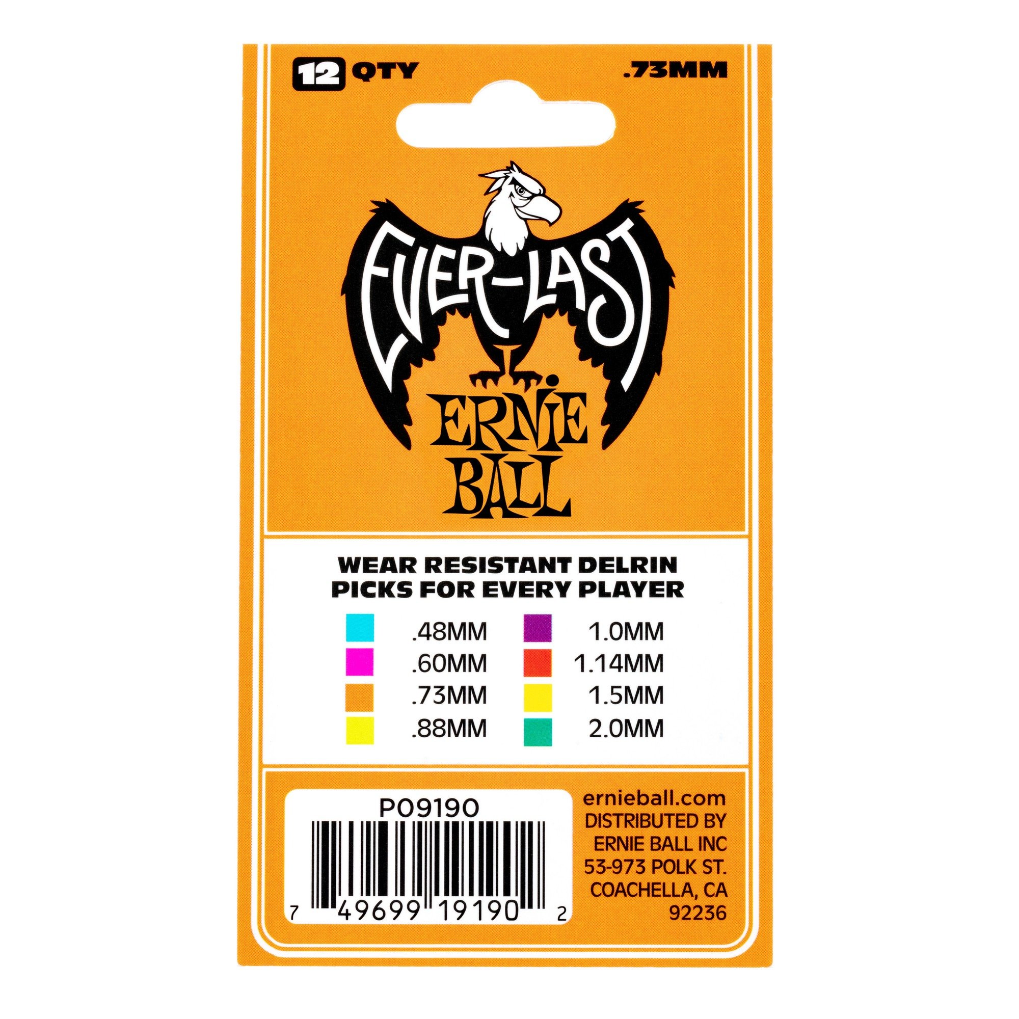 Ernie-Ball-Everlast-Delrin-Acoustic-Electric-Guitar-Picks-12-Pack miniatura 14
