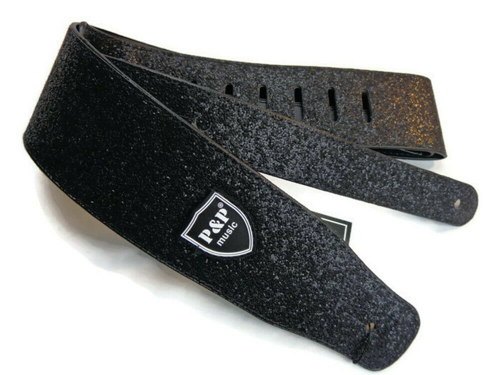 Guitar-Strap-Leather-PU-Plastic-Adjustable-Acoustic-Electric-Bass-Skin-Sparkle thumbnail 14