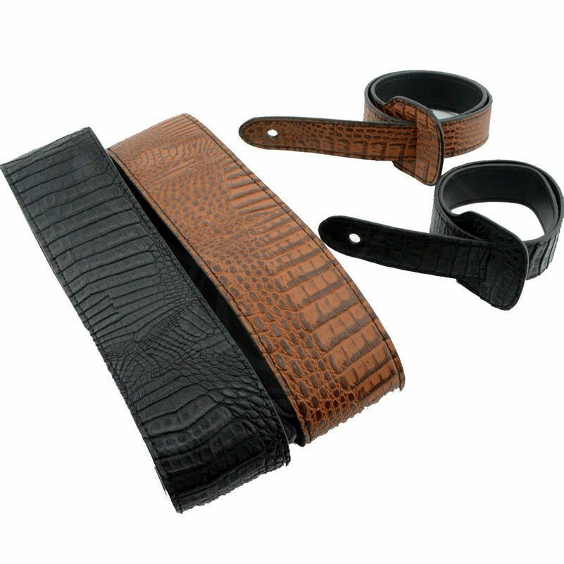 Guitar-Strap-Leather-PU-Plastic-Adjustable-Acoustic-Electric-Bass-Skin-Sparkle thumbnail 26