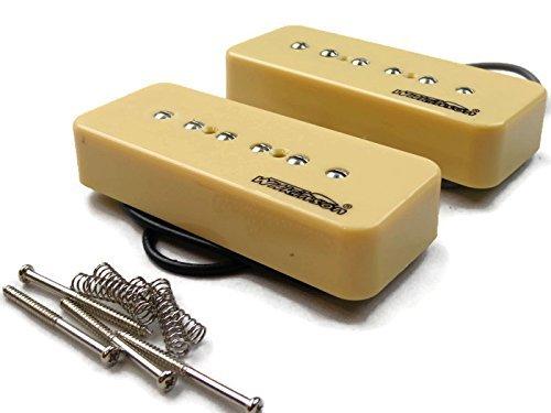 Wilkinson-Bridge-and-Neck-P90-Soapbar-Pickup-SET-Soap-Bar-Cream-or-Black-Screws thumbnail 16