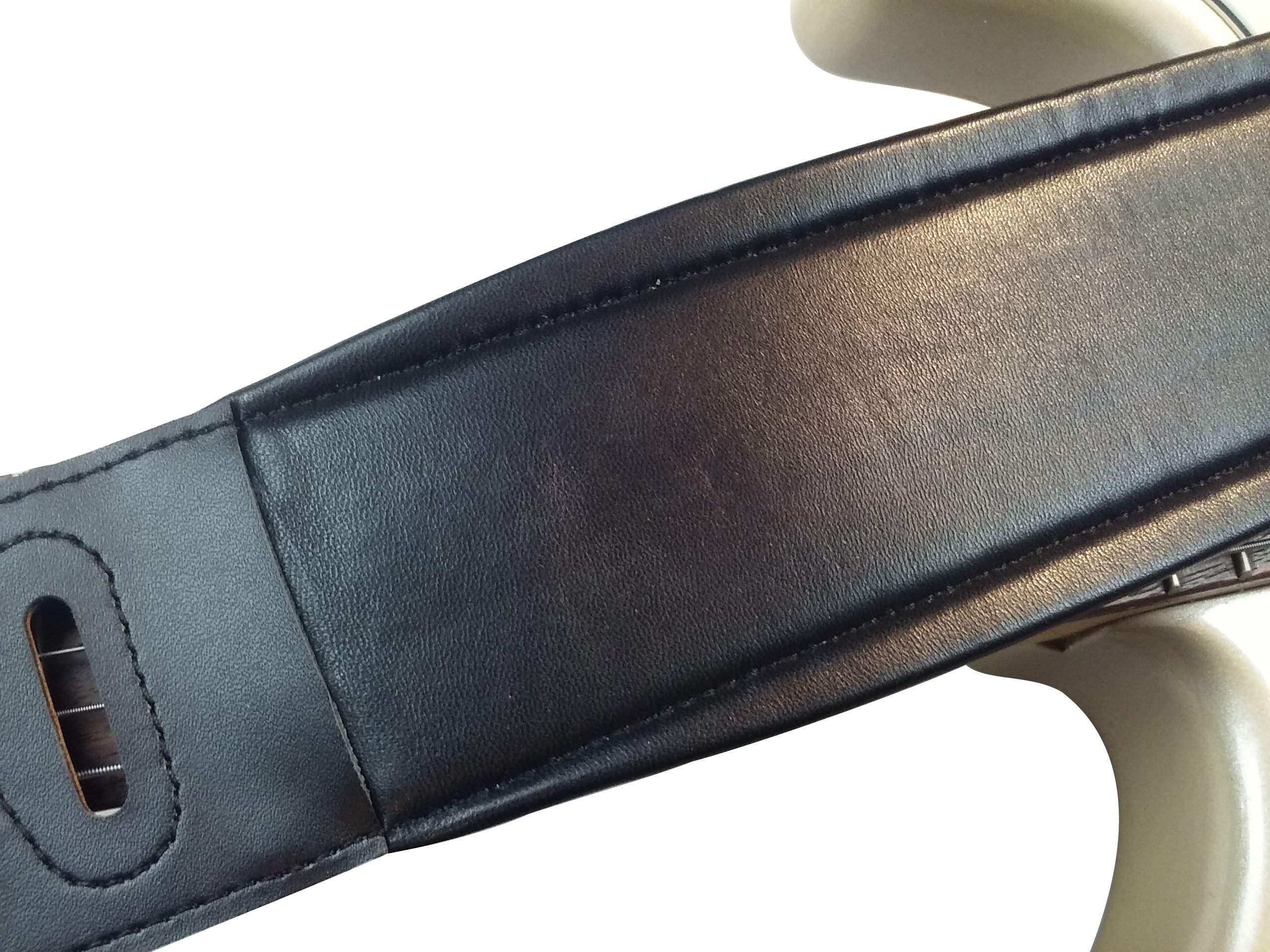 Quality-Leather-2-5-and-3-034-Wide-Acoustic-Electric-Guitar-Bass-Strap-Thick-Padded miniature 26