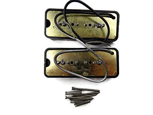 Wilkinson-Bridge-and-Neck-P90-Soapbar-Pickup-SET-Soap-Bar-Cream-or-Black-Screws thumbnail 10