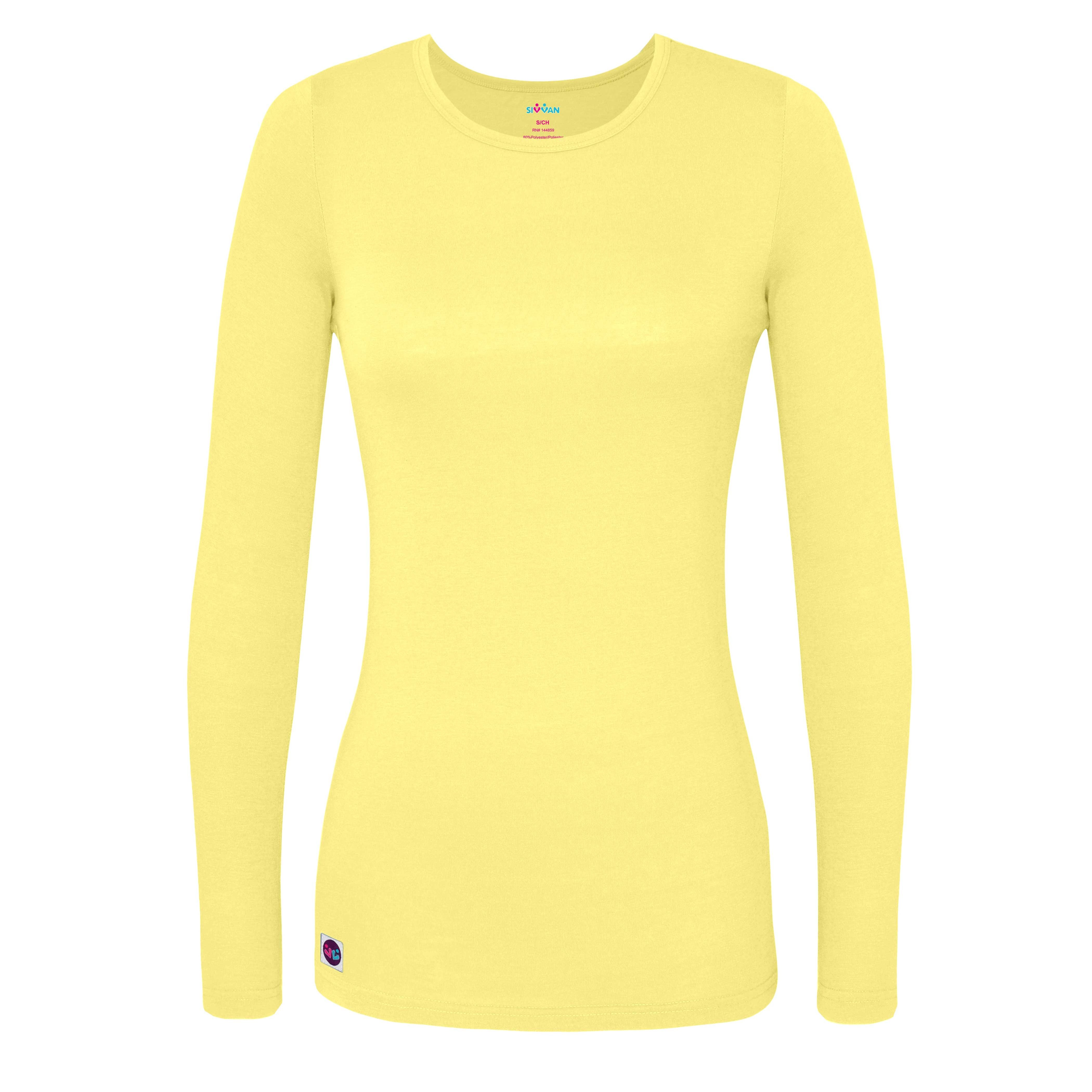 Sivvan Women's Comfort Long Sleeve T-Shirt, Underscrub Tee, Yoga ...