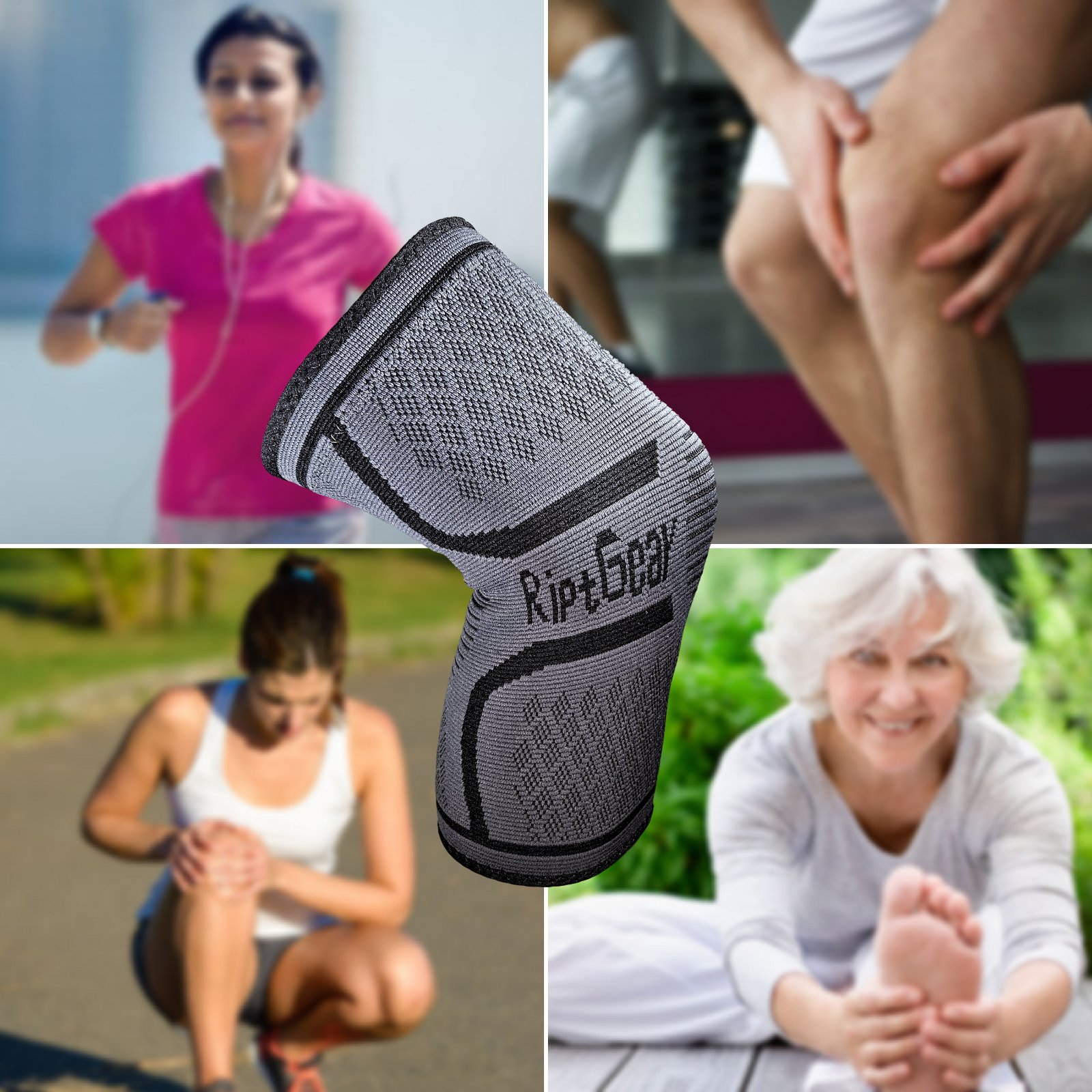 NEW-Knee-Compression-Sleeve-for-Men-and-Women-by-RiptGear-Knee-Brace-Support thumbnail 32