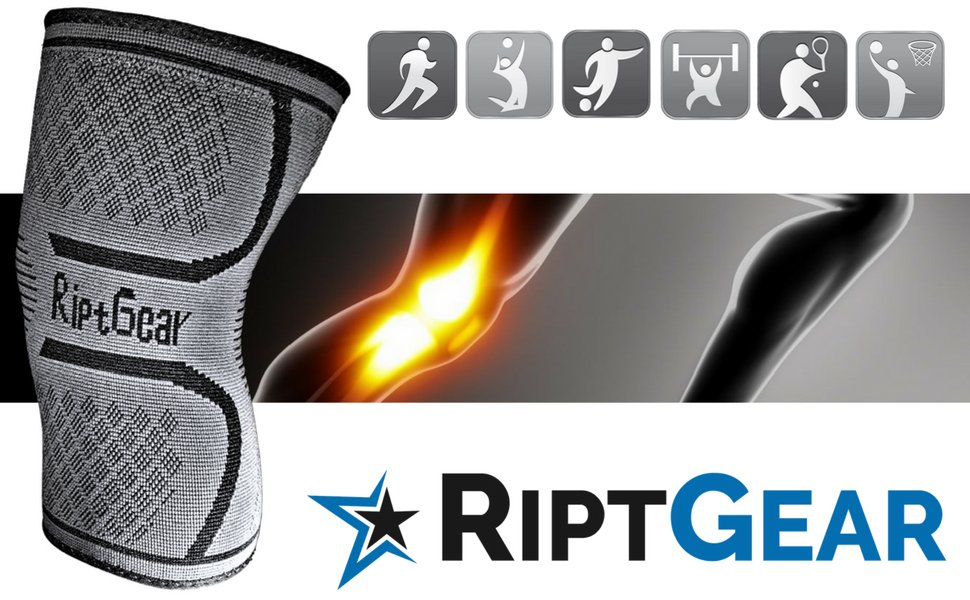 NEW-Knee-Compression-Sleeve-for-Men-and-Women-by-RiptGear-Knee-Brace-Support thumbnail 25