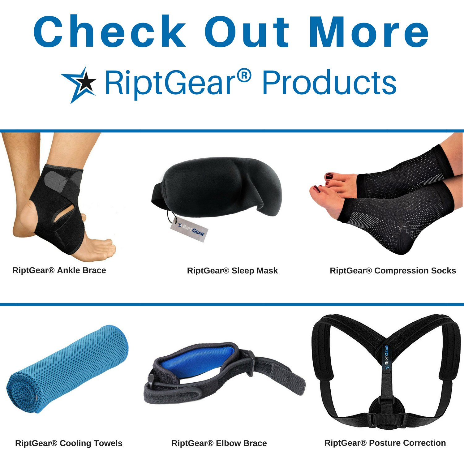 NEW-Knee-Compression-Sleeve-for-Men-and-Women-by-RiptGear-Knee-Brace-Support thumbnail 31