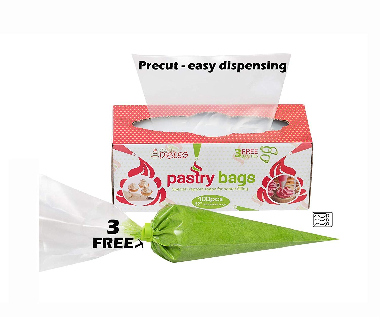 Piping-Bags-Disposable-100-Pack-12-Inch-Cake-Decorating-Pastry-Bag-Set thumbnail 11