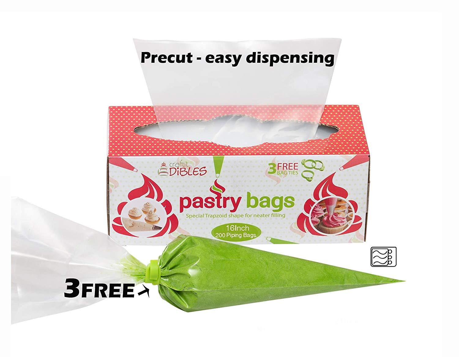 Piping-Bags-Disposable-100-Pack-12-Inch-Cake-Decorating-Pastry-Bag-Set thumbnail 13