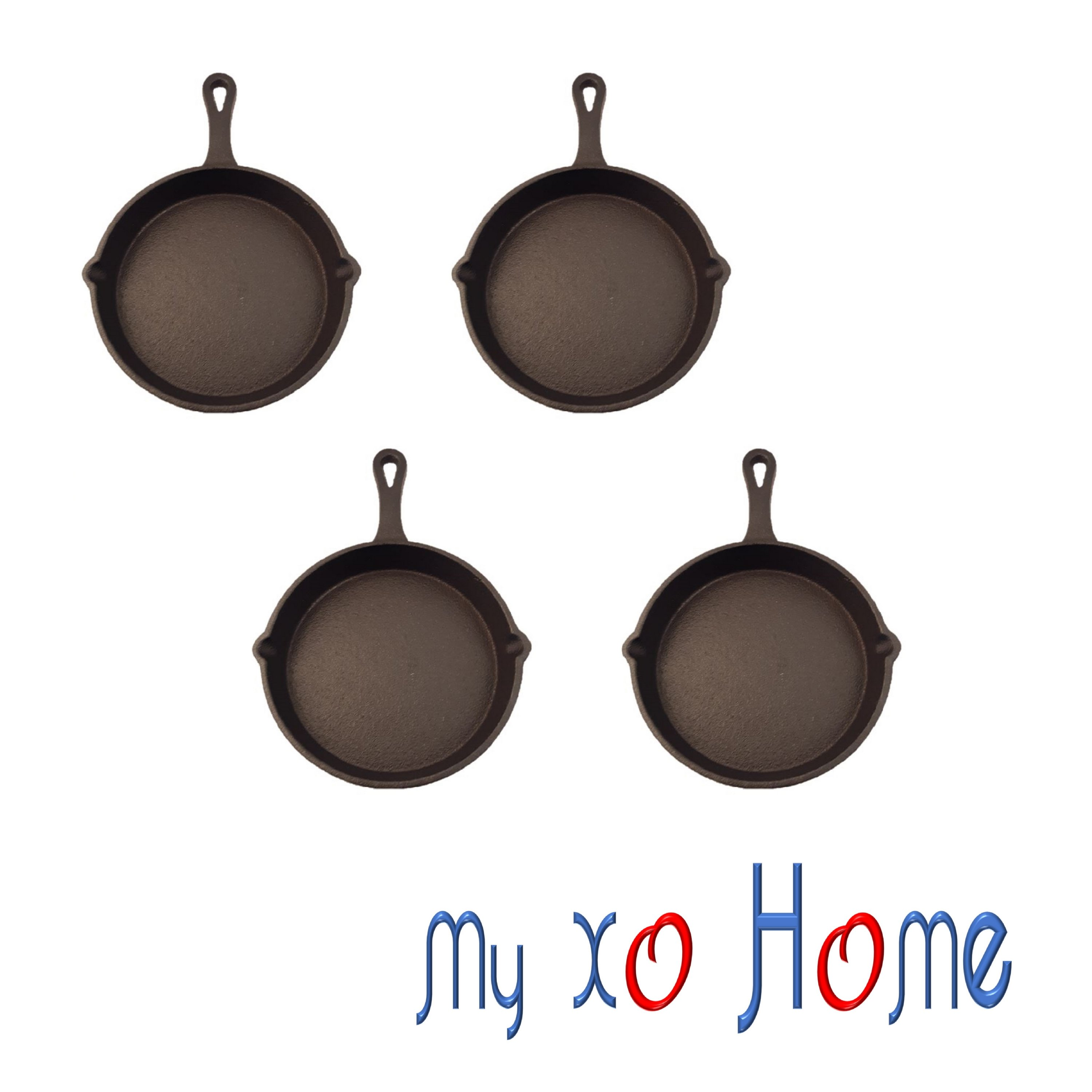 "MyXOHome 5"" Round Cast Iron Frying Pan / Skillet with Handle"