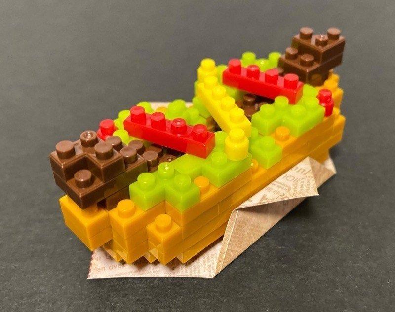 Hot Dog Petit Block from Daiso Japan