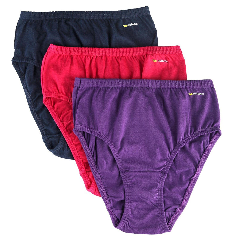 3 Pack Ladies Underwear - Women's Cotton Comfortable Hipster ...