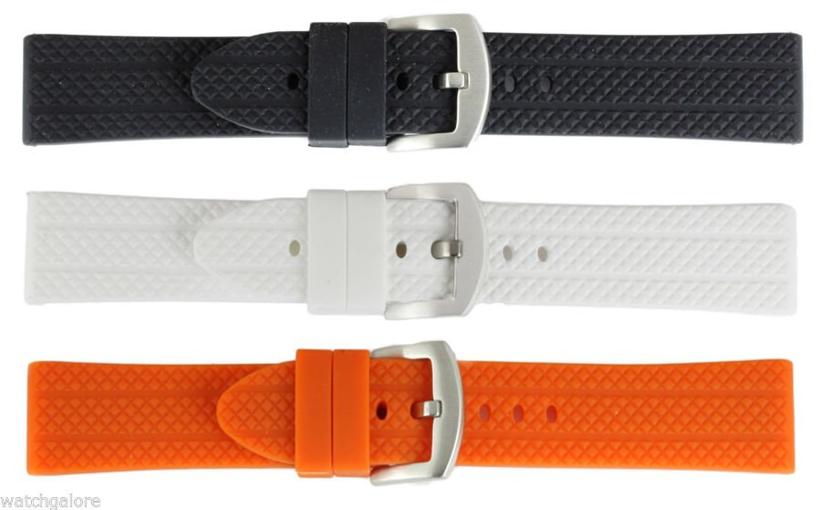 New-Mens-Double-Sided-Rubber-Strap-Watch-Band