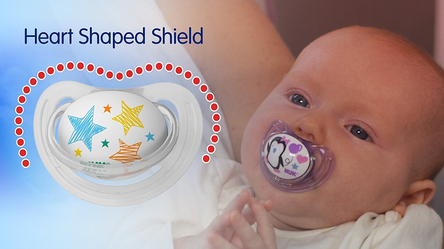 Size 1 Nuk Advanced Clear Shield Orthodontic Pacifier Assorted Colors
