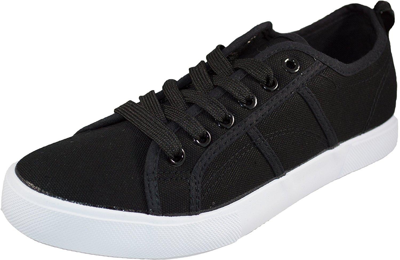 Womens Low Top Canvas Tennis Sneaker Shoe Basic Athletic | EBay