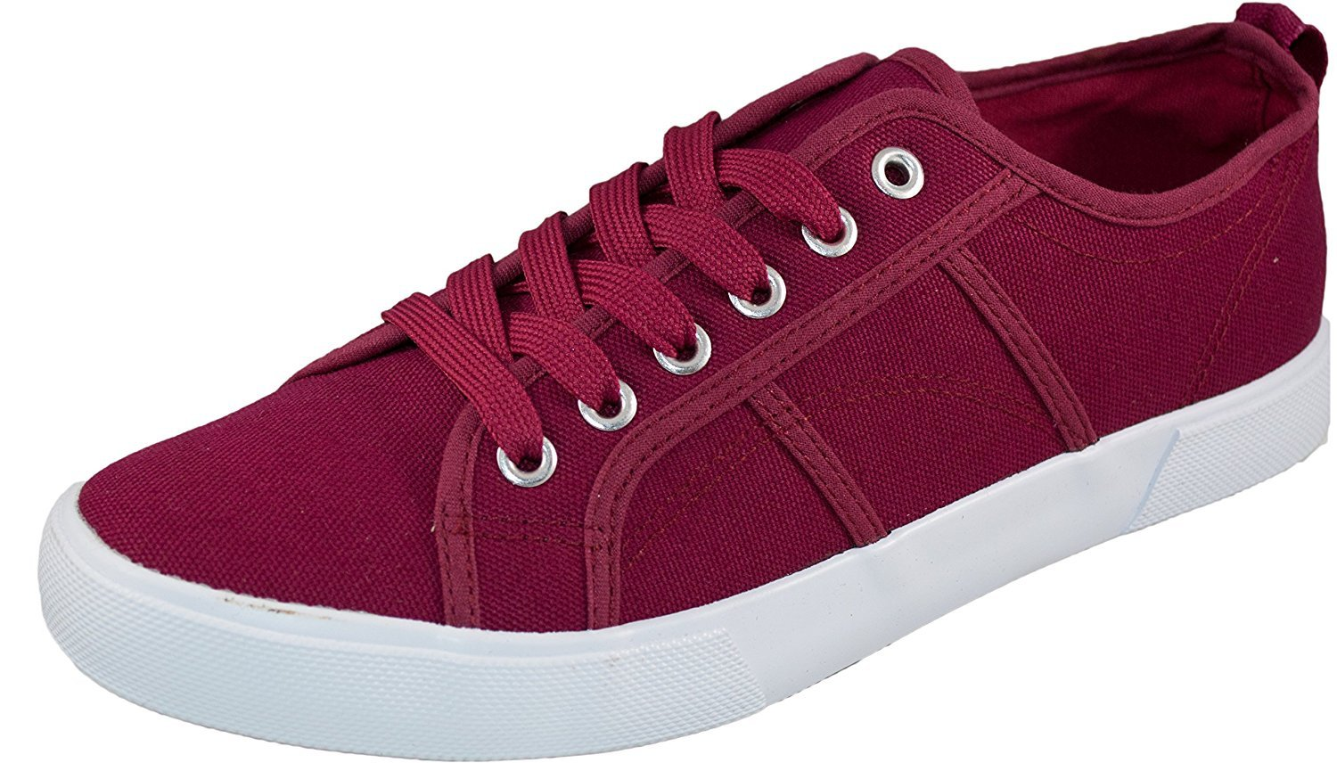 womens low top canvas tennis sneaker shoe basic athletic