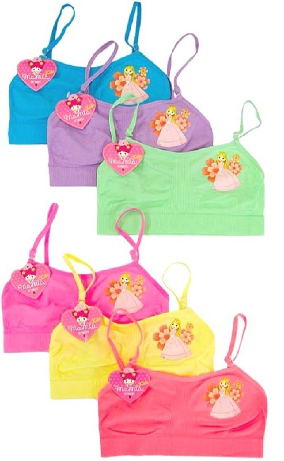 Tobeinstyle Girls Pack Of 6 Seamless Little Princess  Ebay-1244