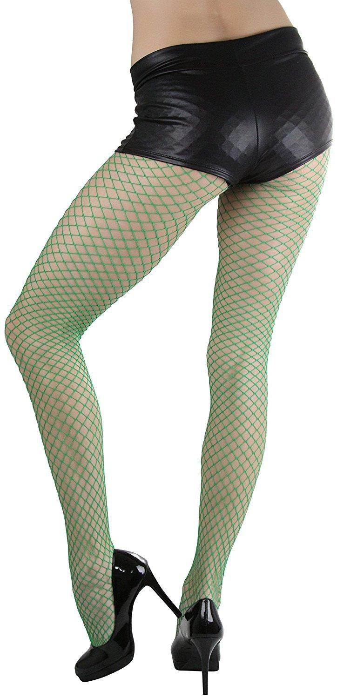 Fishnet Pantyhose Lace Panty Top Elastic Waist Strappy Diamond Hosiery BW401