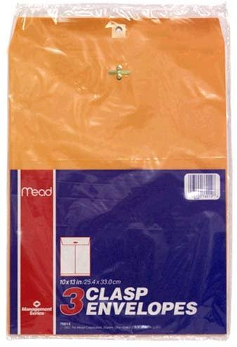 Cambridge Limited Clasp Envelopes, Heavyweight, 10x13, Brown