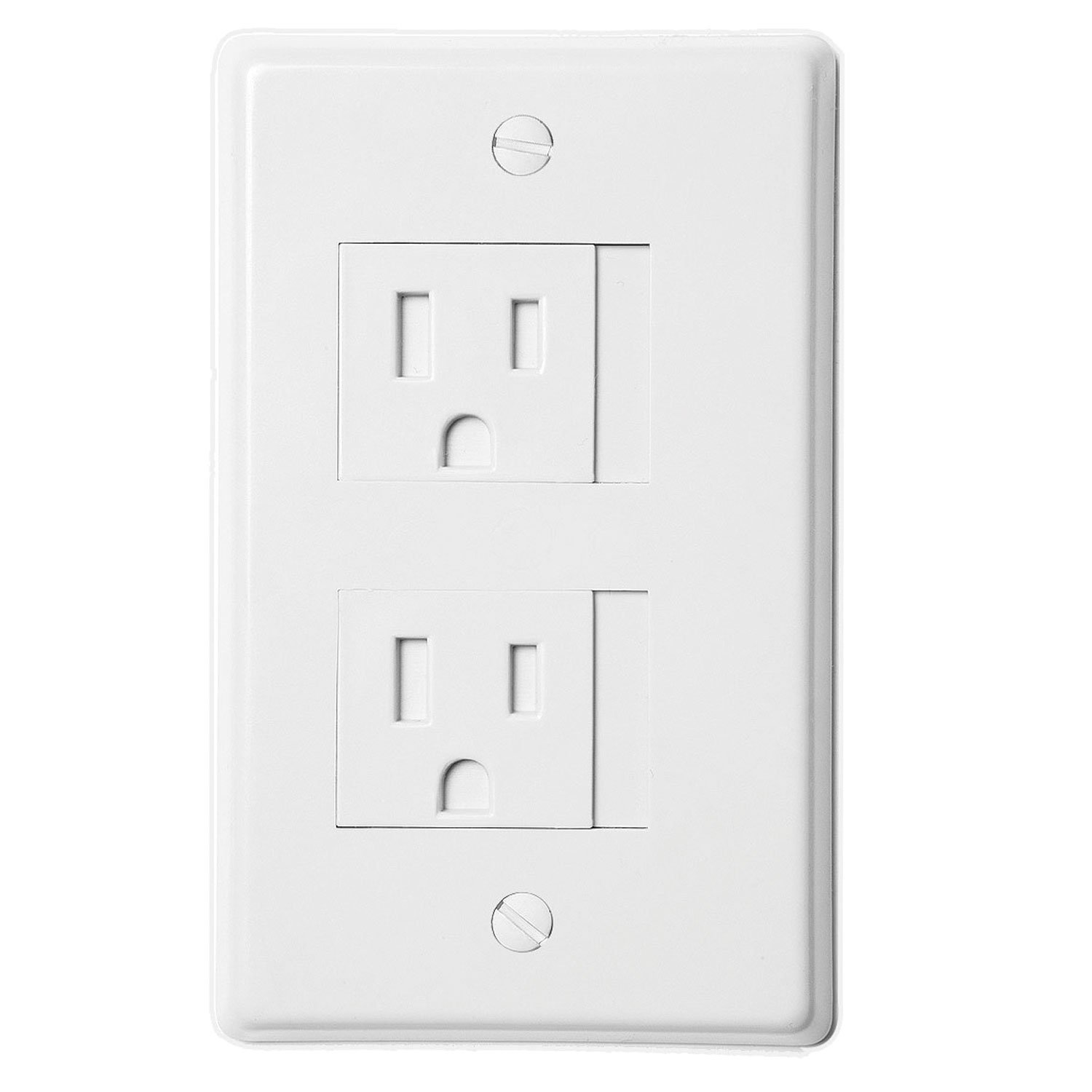 Image Is Loading Safe Plate Electrical Outlet Covers Decora White 2