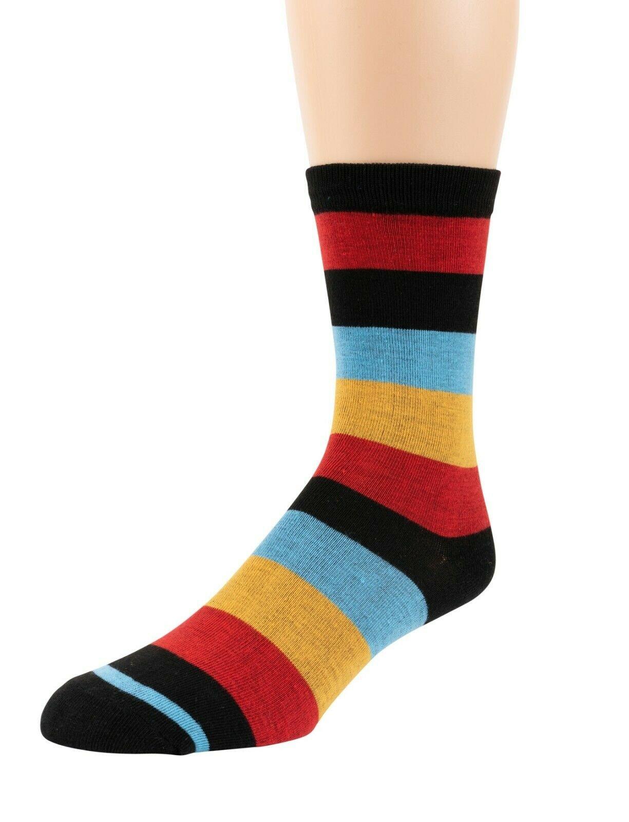 Mitch-Bogen-Mens-Cotton-Dress-Socks-Colorful-Fashion-Crew-Socks-8-Pack-Gift-Box thumbnail 13