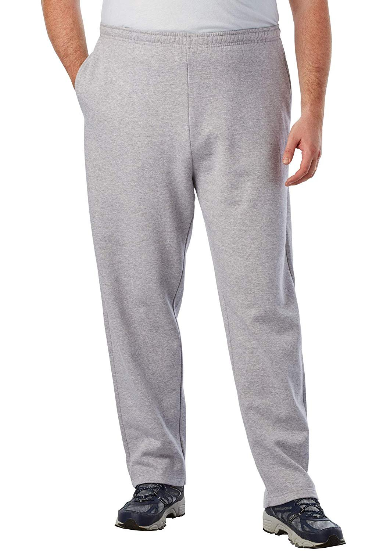 KingSize-Men-039-s-Big-amp-Tall-Fleece-Open-Bottom-Sweatpants thumbnail 18