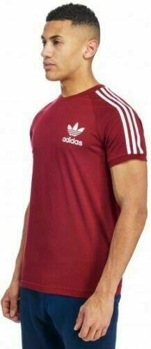 thumbnail 25 - Adidas Originals California Men's T-Shirt Trefoil Retro 3-Stripes Short Sleeve