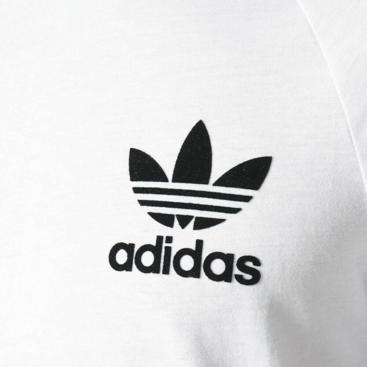 thumbnail 17 - Adidas Originals California Men's T-Shirt Trefoil Retro 3-Stripes Short Sleeve