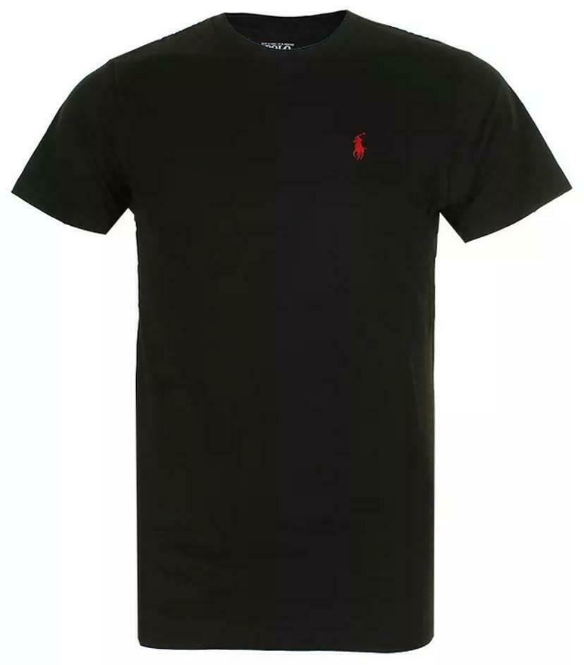 Polo-Ralph-Lauren-Men-039-s-T-Shirt-Crew-Neck-Slim-Fit-Short-Sleeve-Logo-Tee-Shirt miniatura 19