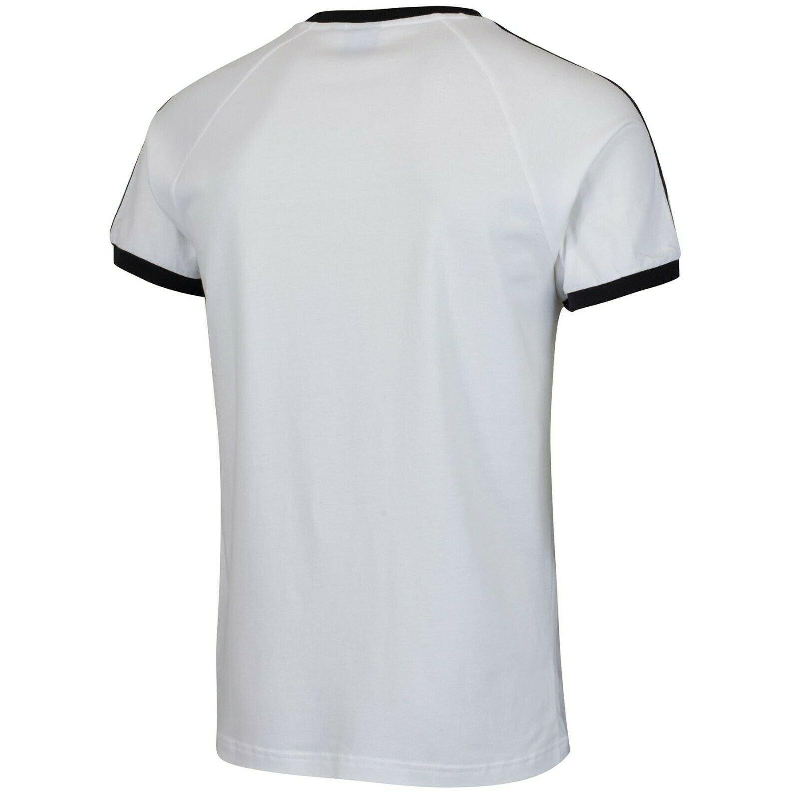 thumbnail 13 - Adidas Originals California Men's T-Shirt Trefoil Retro 3-Stripes Short Sleeve