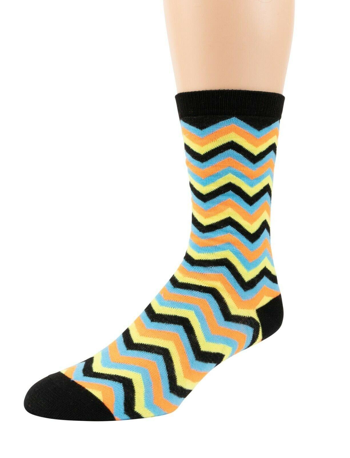 Mitch-Bogen-Mens-Cotton-Dress-Socks-Colorful-Fashion-Crew-Socks-8-Pack-Gift-Box thumbnail 56
