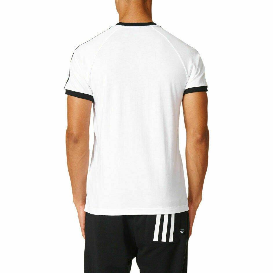 thumbnail 16 - Adidas Originals California Men's T-Shirt Trefoil Retro 3-Stripes Short Sleeve