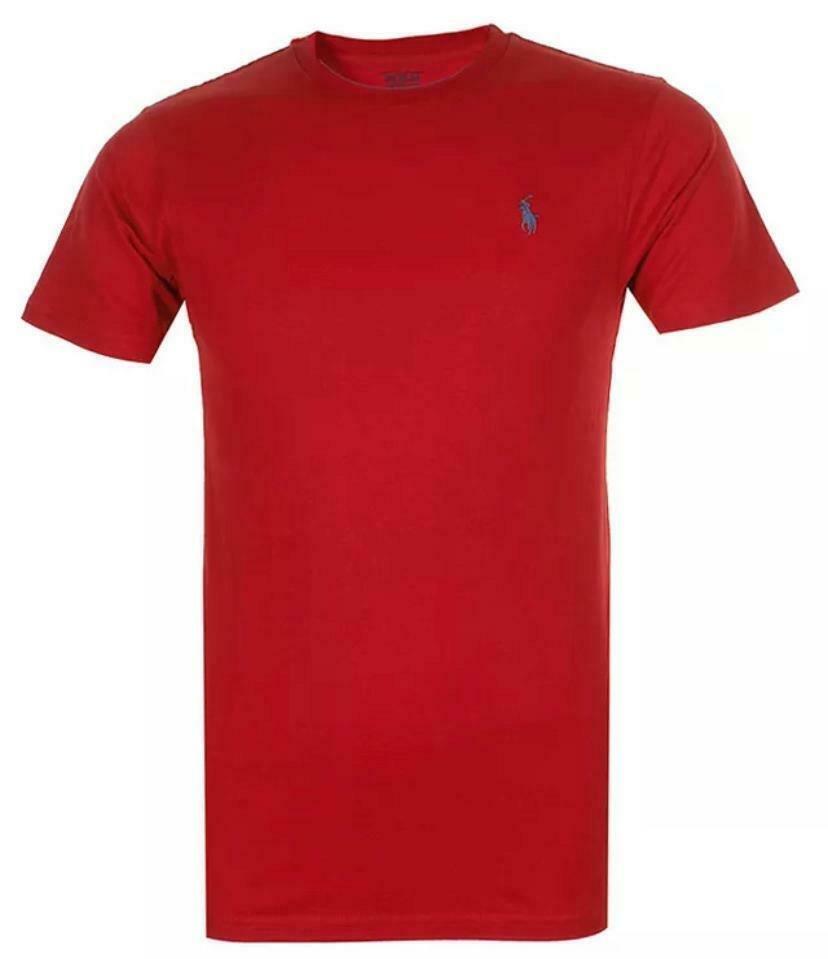 Polo-Ralph-Lauren-Men-039-s-T-Shirt-Crew-Neck-Slim-Fit-Short-Sleeve-Logo-Tee-Shirt miniatura 22