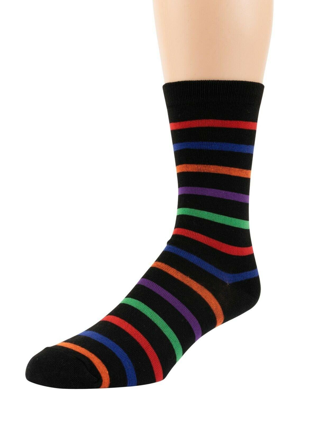 Mitch-Bogen-Mens-Cotton-Dress-Socks-Colorful-Fashion-Crew-Socks-8-Pack-Gift-Box thumbnail 29