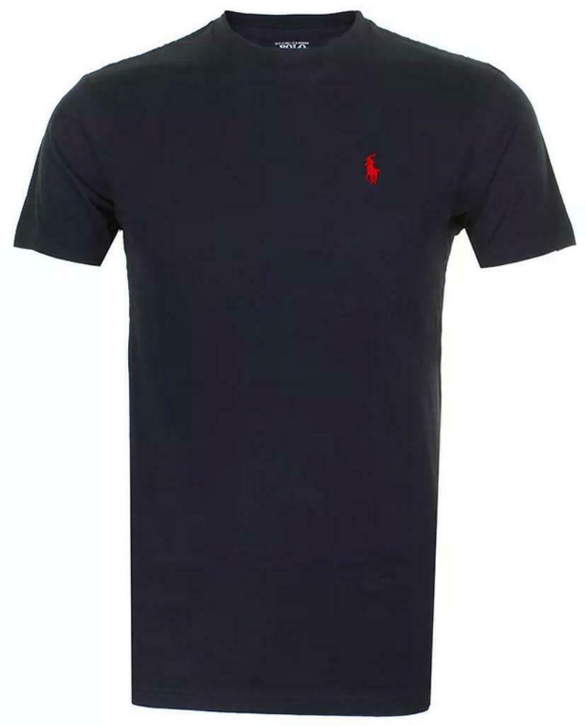 Polo-Ralph-Lauren-Men-039-s-T-Shirt-Crew-Neck-Slim-Fit-Short-Sleeve-Logo-Tee-Shirt miniatura 25