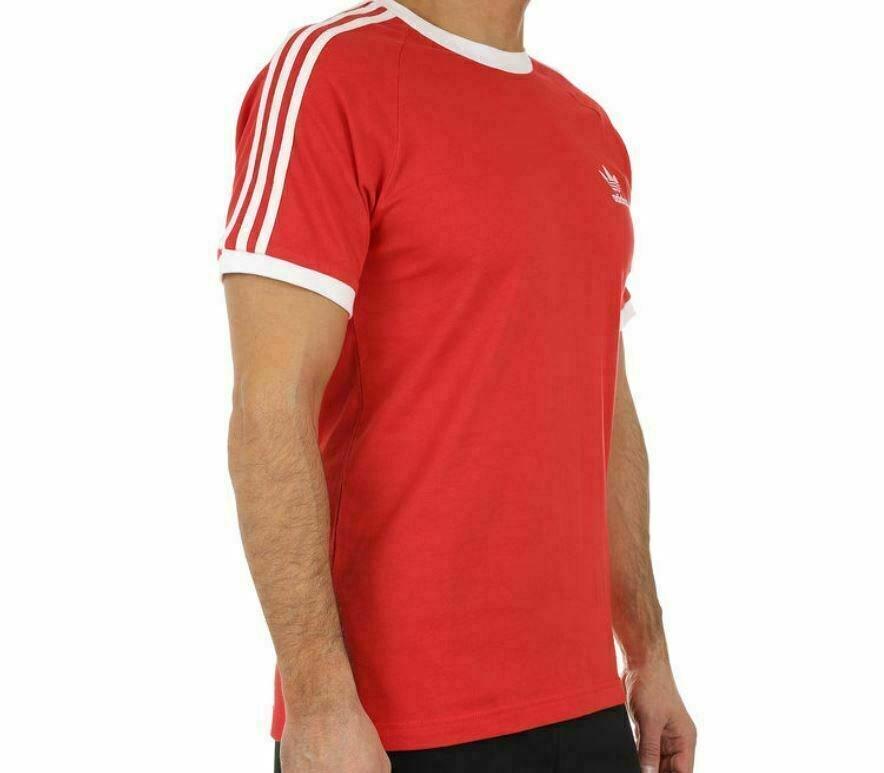 thumbnail 20 - Adidas Originals California Men's T-Shirt Trefoil Retro 3-Stripes Short Sleeve