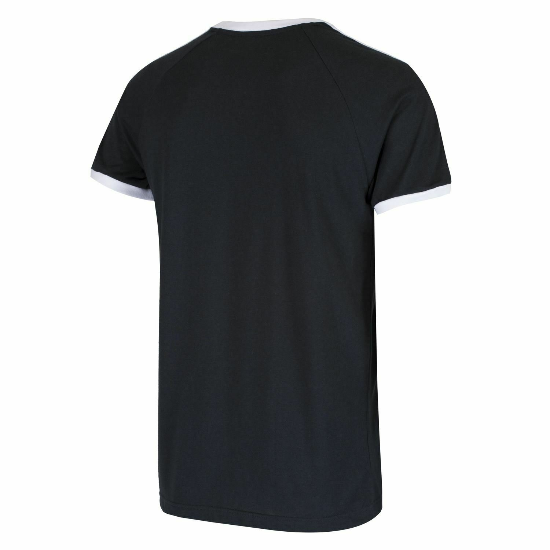 thumbnail 6 - Adidas Originals California Men's T-Shirt Trefoil Retro 3-Stripes Short Sleeve