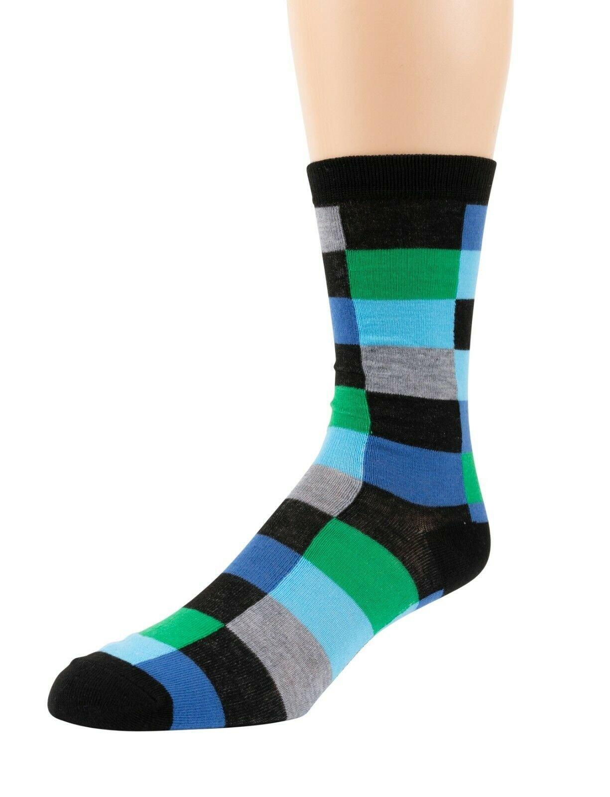 Mitch-Bogen-Mens-Cotton-Dress-Socks-Colorful-Fashion-Crew-Socks-8-Pack-Gift-Box thumbnail 49