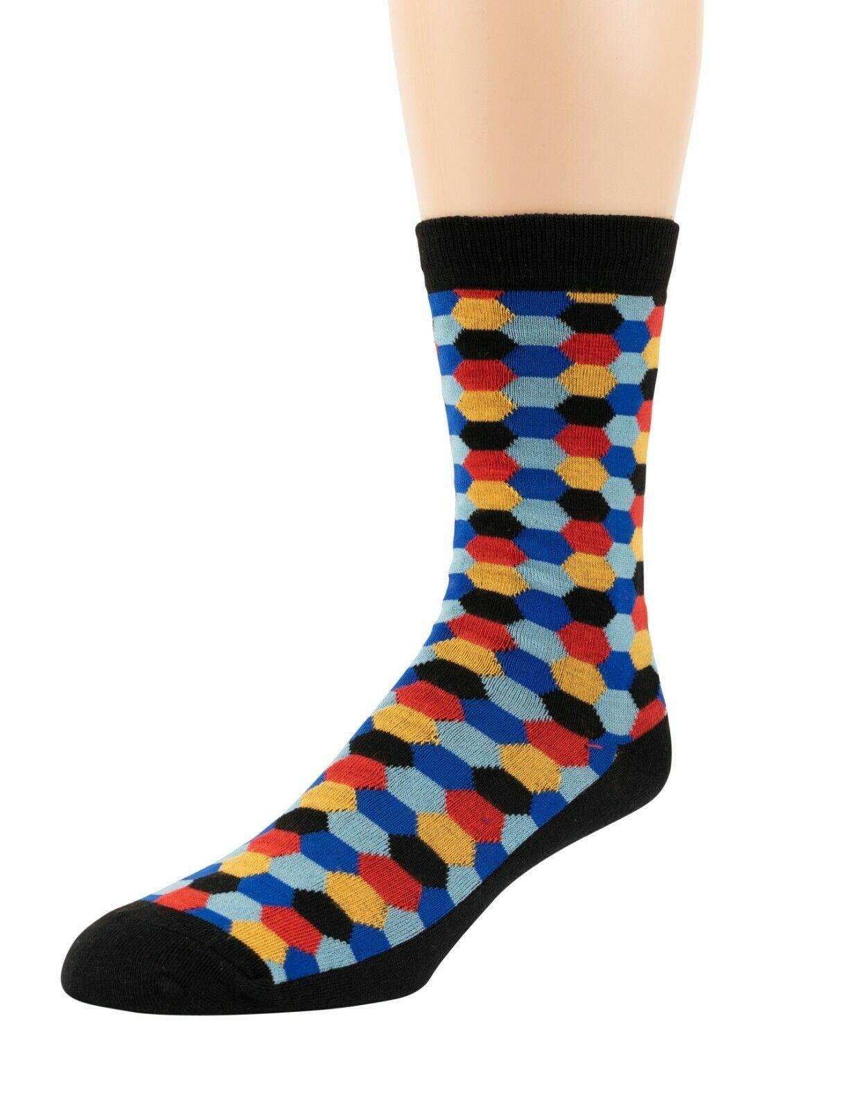 Mitch-Bogen-Mens-Cotton-Dress-Socks-Colorful-Fashion-Crew-Socks-8-Pack-Gift-Box thumbnail 12